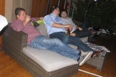 auf dem Sofa, Holle, Frank und Jochen